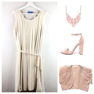 Ivory Vera Wang Pleated Dress